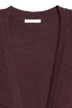 Cardigan in maglia a coste - Bordeaux - DONNA | H&M IT 3