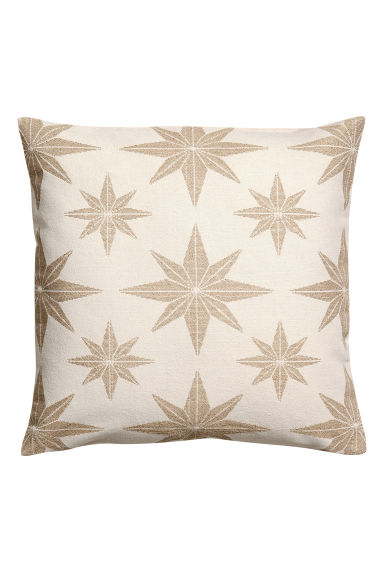 Jacquard-pattern cushion cover - Gold-coloured/Star print -  | H&M IE