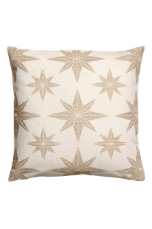 Jacquard-print cushion cover