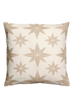 Jacquard-pattern cushion cover - Gold-coloured/Star print - Home All | H&M CN 1