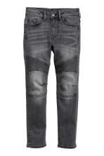 Skinny fit Biker Jeans - Svart washed out - Kids | H&M SE 2