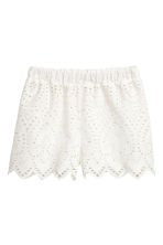 Shorts with broderie anglaise - White - Ladies | H&M 2