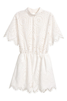 Jumpsuit met broderie anglaise