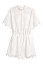 Broderie anglaise playsuit - White - Ladies | H&M 2
