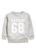 Sweatshirt with Printed Design - Gray melange - Kids | H&M CA 2