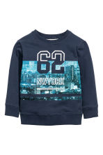 Printed sweatshirt - Dark blue - Kids | H&M 2