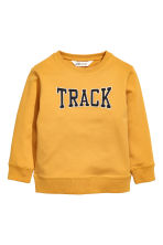 Sweatshirt with Printed Design - Mustard yellow - Kids | H&M CA 2