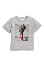 T-shirt with a print motif - Grey marl - Kids | H&M 2