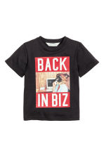 T-shirt with a print motif - Black - Kids | H&M CN 2