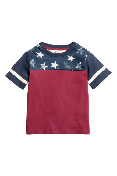 Printed T-shirt - Red/Stars - Kids | H&M 1
