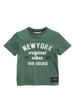 T-shirt avec impression - Vert/New York -  | H&M FR 2