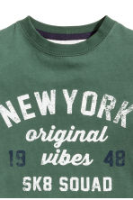 T-shirt avec impression - Vert/New York -  | H&M FR 3