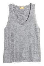 Shimmering top - Silver-coloured - Ladies | H&M 2