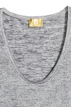 Shimmering top - Silver-coloured - Ladies | H&M 3