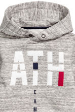 Sweat-shirt à capuche et motif - Gris chiné - ENFANT | H&M BE 3