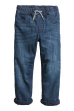 Joggers in denim foderati - Blu denim scuro - BAMBINO | H&M IT 2