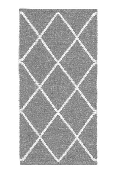 Glittery cotton rug - Grey/Silver-coloured -  | H&M IE