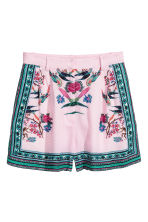 Jacquard-weave shorts - Pink/Green - Ladies | H&M IE 2