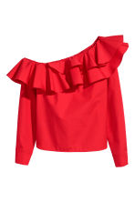 One-shoulder blouse - Red - Ladies | H&M IE 2
