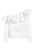 One-shoulder blouse - White - Ladies | H&M CA 2