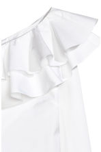 One-shoulder blouse - White -  | H&M 3