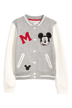 Baseball jacket - Grey/Mickey Mouse - Kids | H&M GB