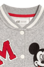 Baseball jacket - Grey/Mickey Mouse - Kids | H&M 3