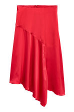 Satin skirt - Red - Ladies | H&M 2