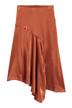 Satin skirt - Rust - Ladies | H&M 2