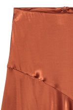 Satin skirt - Rust - Ladies | H&M 3