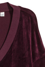 Velour sweatshirt - Plum - Ladies | H&M IE 3