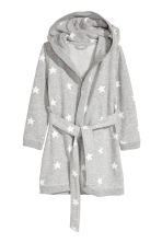 Bathrobe - Gray melange/stars - Kids | H&M CA 1