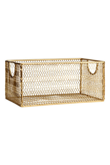 Metal wire basket - Gold-coloured - Home All | H&M IE 1