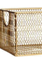 Metal wire basket - Gold-coloured - Home All | H&M IE 2