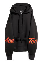Scuba-fabric Hooded Top - Black - Ladies | H&M CA 3