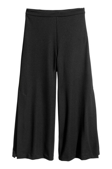 Culottes with side slits - Black - Ladies | H&M CN 1
