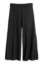 Culottes with Slits - Black -  | H&M CA 2
