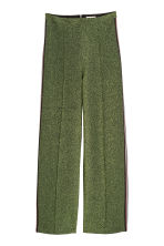 Glittery trousers - Green/Glitter - Ladies | H&M CN 2