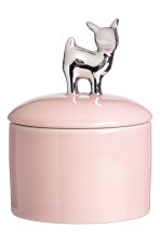 Porcelain trinket box - Pink/Silver - Home All | H&M CN 1
