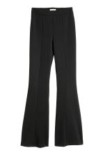 Flared jersey trousers - Black - Ladies | H&M 2