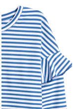 Jersey top with flounces - Blue/White striped - Ladies | H&M 3