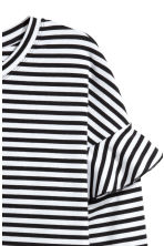 Jersey top with flounces - Black/White striped - Ladies | H&M 3