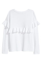 Tricot top met volants - Wit - DAMES | H&M NL 3