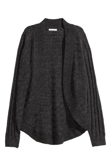 Ribbed cardigan - Dark grey marl - Ladies | H&M