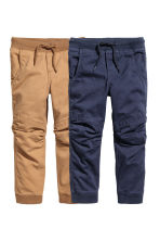 2-pack joggers - Dark blue/Camel - Kids | H&M 2
