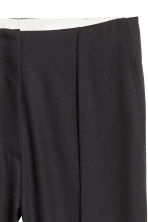 Wool suit trousers - Black - Ladies | H&M 3