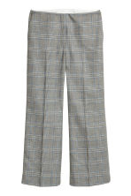 Wide wool-blend suit trousers - Grey/Checked - Ladies | H&M IE 1