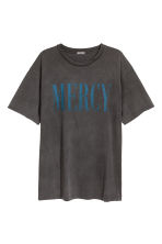 Printed T-shirt - Dark grey - Men | H&M IE 2