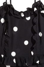 Flounced strappy top - Black/White spotted - Ladies | H&M CN 3
