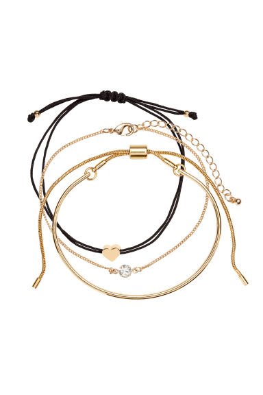 3-pack Bracelets - Gold-colored -  | H&M CA 1